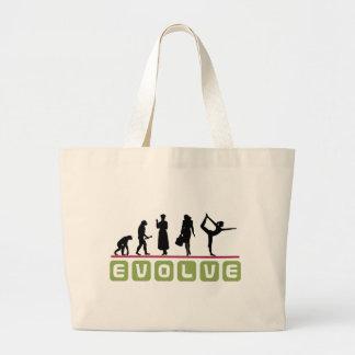 Funny Yoga Gift Large Tote Bag