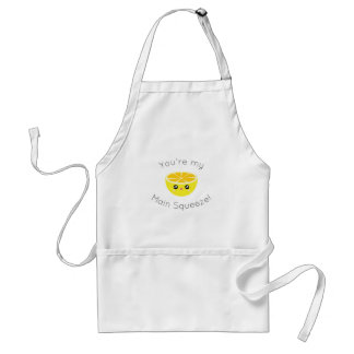 Funny You Are My Main Squeeze Kawaii Lemon Humor Standard Apron