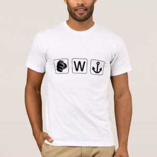 Funny You W Anchor T-Shirt