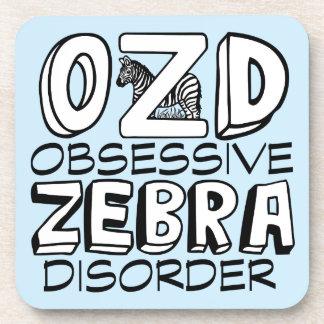 Funny Zebra Blue Coaster