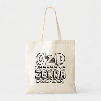 Funny Zebra Budget Tote Bag