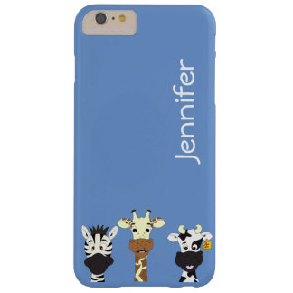 Funny zebra giraffe cow cartoon iphone case barely there iPhone 6 plus case