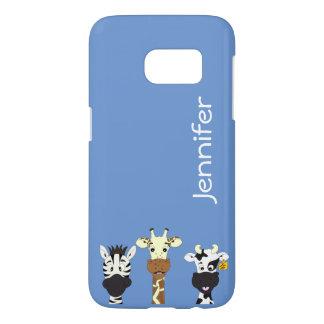 Funny zebra giraffe cow cartoon samsung case