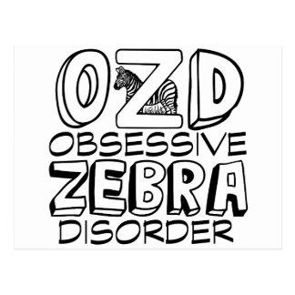 Funny Zebra Postcard