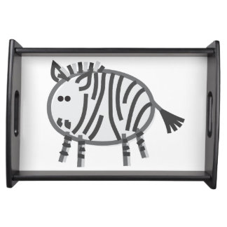 Funny Zebra Serving Tray