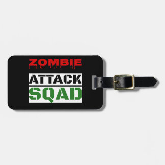 Funny Zombie Attack Squad Luggage Tag