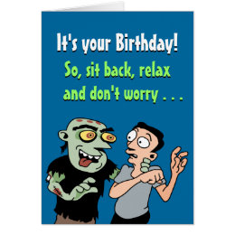 Funny zombie birthday cards invitations zazzle funny zombie birthday card bookmarktalkfo Images