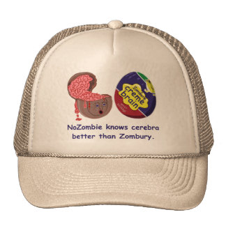 Funny Zombie Brain Candy Cap