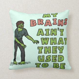 Funny Zombie Brains Old Age Cushions