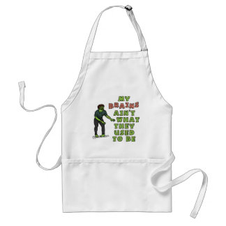 Funny Zombie Brains Old Age Standard Apron