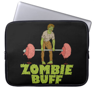 Funny Zombie Buff Laptop Sleeves