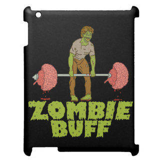 Funny Zombie Buff Weight Lifter iPad Case