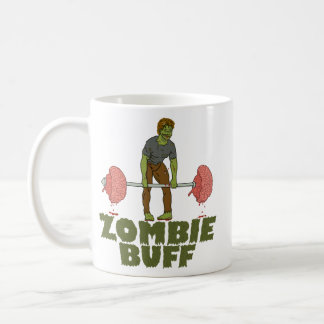 Funny Zombie Buff Weight Lifter Coffee Mug