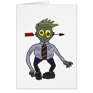 Funny Zombie Businessman Design Greeting Card