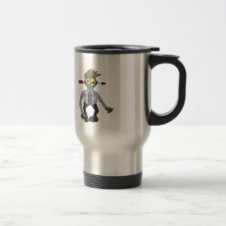 Funny Zombie Businessman Design Stainless Steel Travel Mug