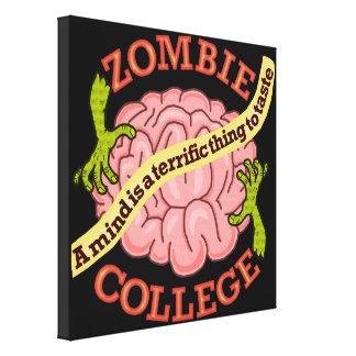 Funny Zombie College Logo Canvas Prints