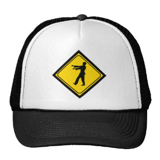 Funny Zombie Crossing Sign Mesh Hat