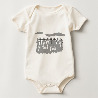Funny Zombie Talk design Baby Bodysuits