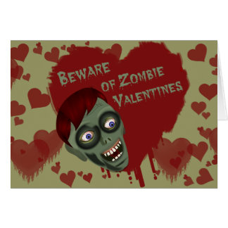 Funny Zombie Valentine Greeting Card