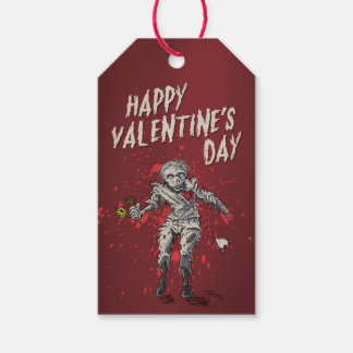 Funny Zombie Valentine's Day Gift Tags
