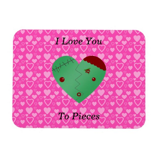 Funny zombie valentine's day gifts flexible magnets