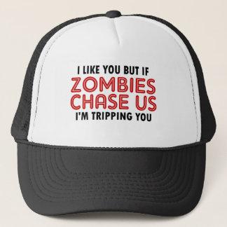 Funny Zombies Design Trucker Hat