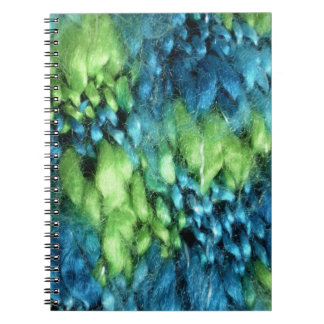 FunnyPhoto Blue&Green Knitted Pattern Spiral Notebook