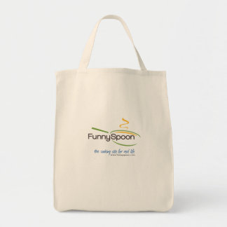 FunnySpoon Grocery Tote Canvas Bag