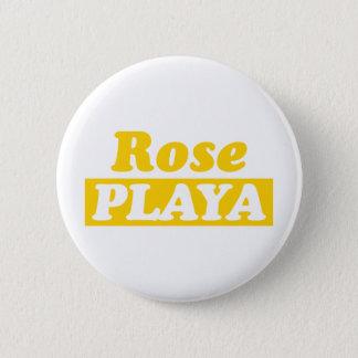 Funy Rose Playa Golden 6 Cm Round Badge