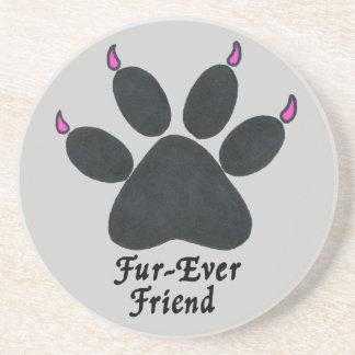 """""""Fur-ever Friend"""" Cat Paw Coaster"""