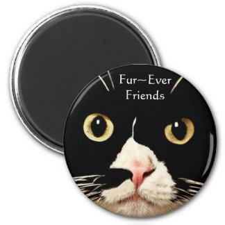 Fur~Ever Friends 6 Cm Round Magnet