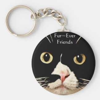 Fur~Ever Friends Basic Round Button Key Ring