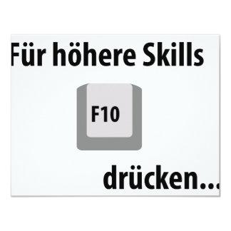 Für höhere Skills F 10 drücken counter strike icon 11 Cm X 14 Cm Invitation Card