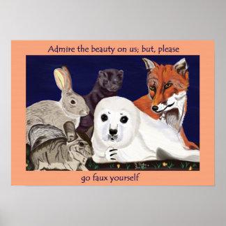 Fur Is For Wonder, Not Wear poster