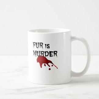 Fur is Murder Basic White Mug