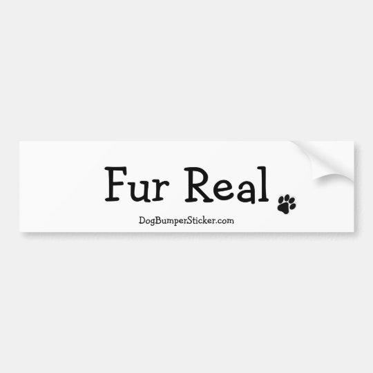 Fur Real Bumper Sticker