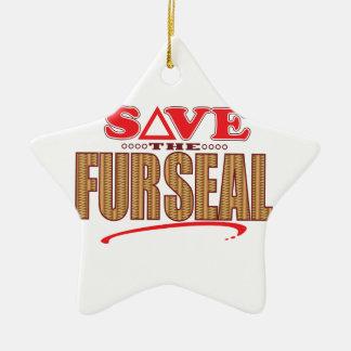 Fur Seal Save Ceramic Star Decoration