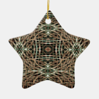 Fur Texture Abstract Pattern Christmas Ornament