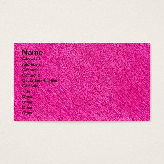 Fur texture business card