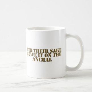 Fur their sake basic white mug