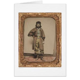 Fur trapper (40056) greeting card