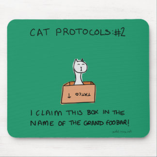 Furiday Cat Protocols: #1 from Awful Jokes Mouse Mat