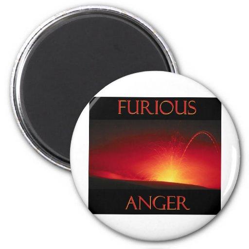 Furious Anger Fridge Magnet