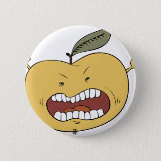 Furious apple 6 cm round badge