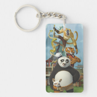 Furious Five Stacked Key Ring