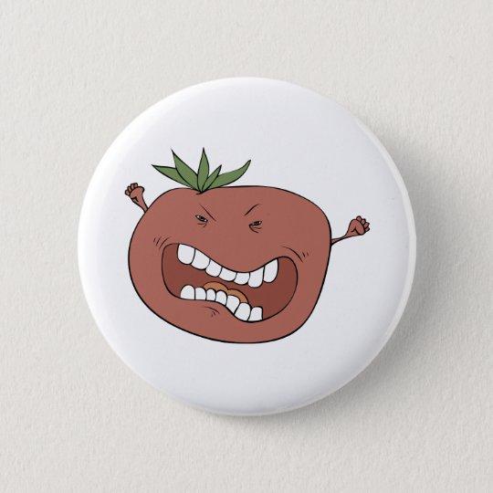 Furious tomato 6 cm round badge