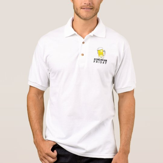 Furlough Fridayl Beer Mug Men's Polo Shirt