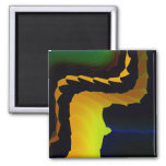 Furnace Cool Abstract Fine Fractal Art Square Magnet