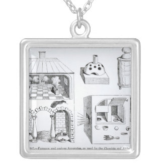 Furnaces and various Apparatus Silver Plated Necklace