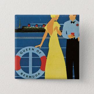 Furness ~ Queen of Bermuda 15 Cm Square Badge